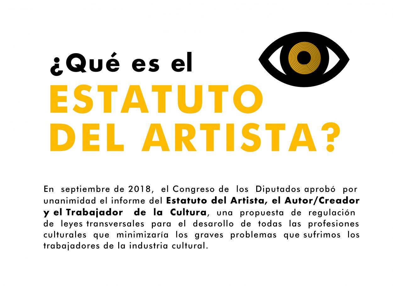 Campaña #EstatutoDelArtistaYa