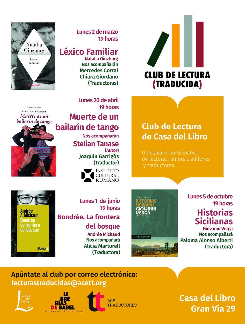 Madrid: Próxima sesión del Club de Lectura (Traducida)