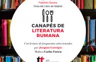 Canapés de literatura rumana. Con lectura de fragmentos seleccionados por Joaquín Garrigós